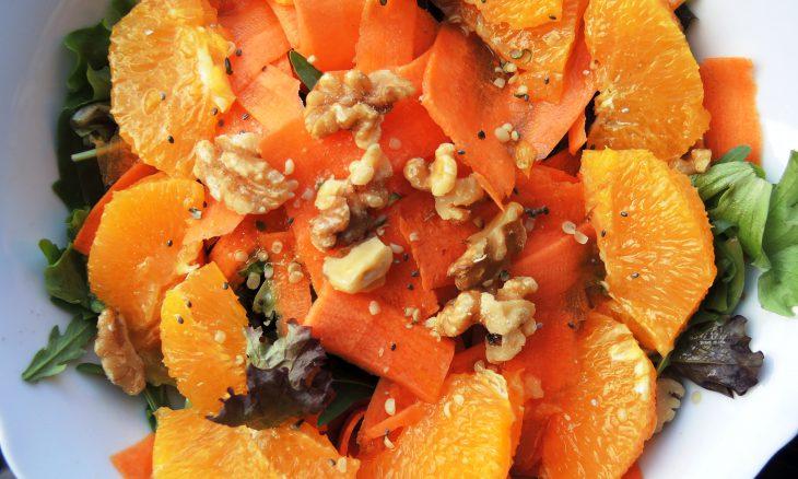 Ensalada de zanahoria y naranja