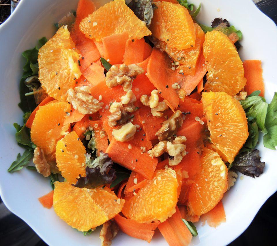 ensalada naranja zanahoria,ensalada paleo,recetas paleo