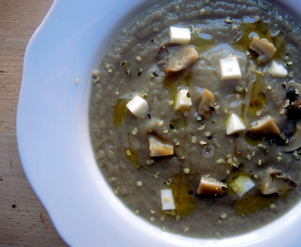 crema setas champiñones,crema verduras,recetas paleo,recetas vegetarianas
