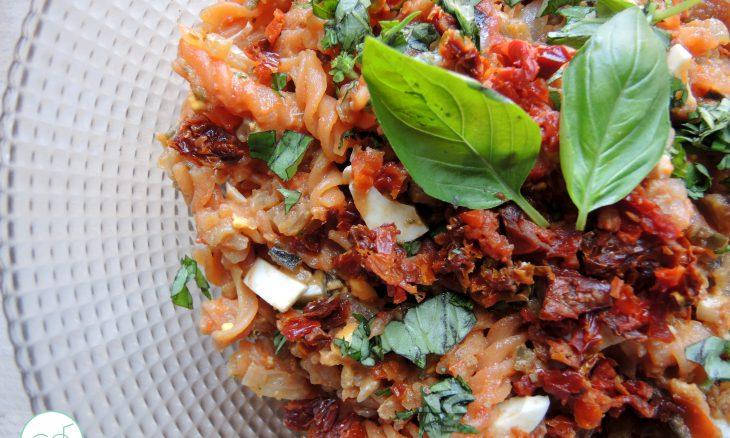 Ensalada de pasta de lentejas (sin gluten)