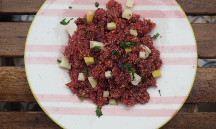 Ensalada de quinoa súper mega guay
