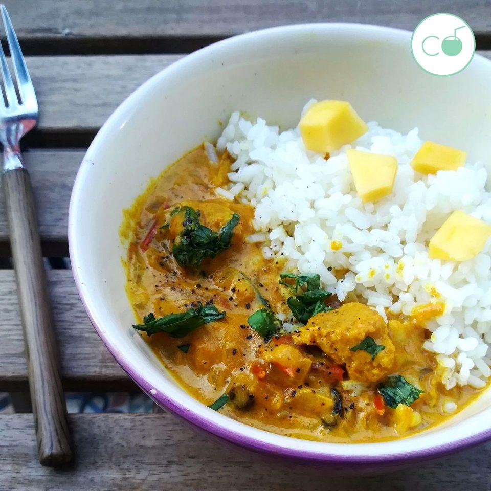 Curry Vegetariano De Soja Texturizada Coco A Poco